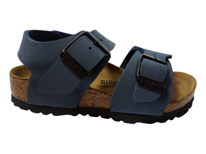 Birkenstock Sandaal New York 87773 Blauw Smal