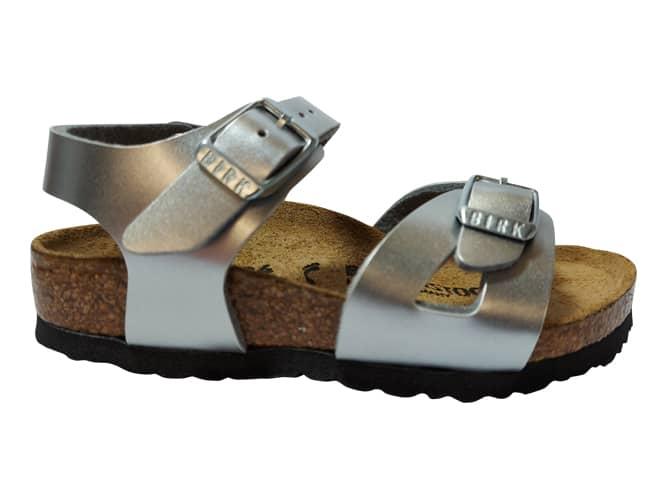 Birkenstock Sandaal Rio 1019201 Metallic Zilver Smal